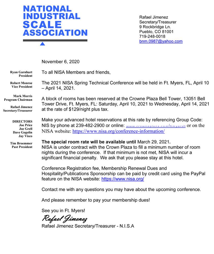 Conference Letter